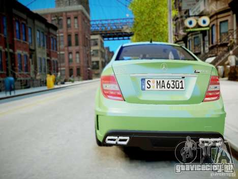 Mercedes-Benz C63 AMG Black Series 2012 v1.0 для GTA 4 вид сверху