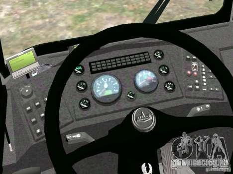 МАЗ 5295 v2.0 финал для GTA 4 вид сзади