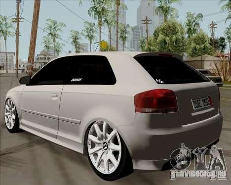 Audi S3 V.I.P для GTA San Andreas вид слева