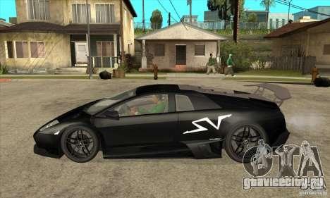 Lamborghini Murcielago LP 670 SV для GTA San Andreas вид слева