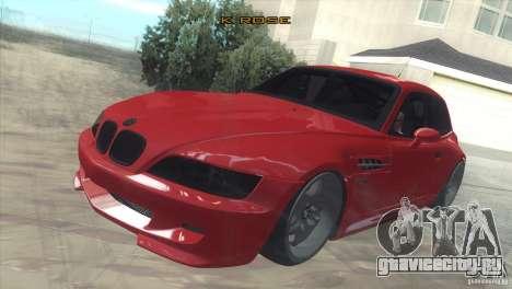 BMW Z3 M Power 2002 для GTA San Andreas вид изнутри