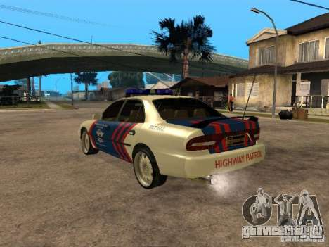 Mitsubishi Galant Police Indanesia для GTA San Andreas вид слева