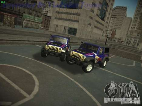 Jeep Wrangler Red Bull 2012 для GTA San Andreas вид сзади слева