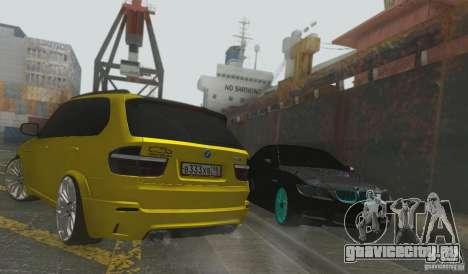 BMW X5M Gold Smotra v2.0 для GTA San Andreas вид сзади