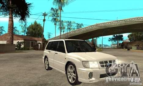 Subaru Forester для GTA San Andreas вид сзади