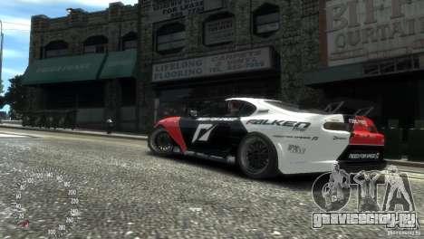 Toyota Supra Fredric Aasbo для GTA 4 вид сзади слева