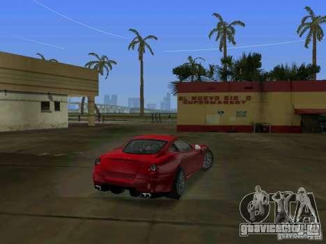 Ferrari 599 GTB для GTA Vice City вид сзади слева