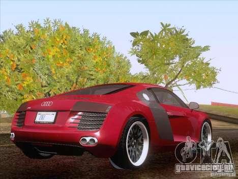 Audi R8 Hamann для GTA San Andreas вид изнутри