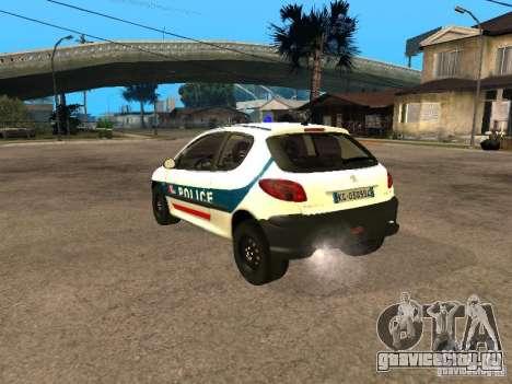 Peugeot 206 Police для GTA San Andreas вид слева
