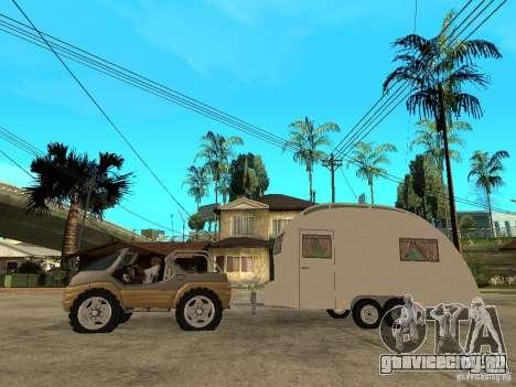 Ford Intruder 4x4 Concept + Caravan для GTA San Andreas вид слева
