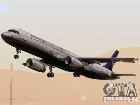 Airbus A321 Air Macau для GTA San Andreas вид изнутри