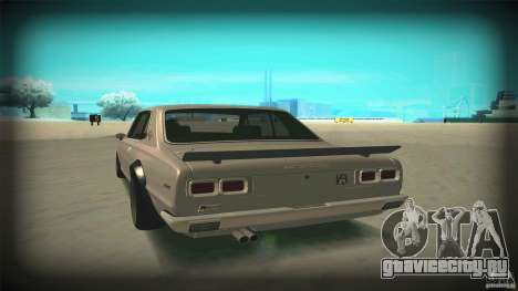 Nissan Skyline 2000GT-R JDM Style для GTA San Andreas вид сбоку