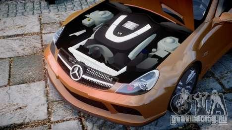 Mercedes-Benz SL65 AMG Black Series для GTA 4 вид изнутри