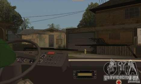 ЛАЗ 52078 (Лайнер-12) для GTA San Andreas вид изнутри