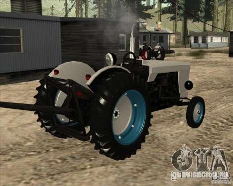 Трактор для GTA San Andreas вид сзади слева