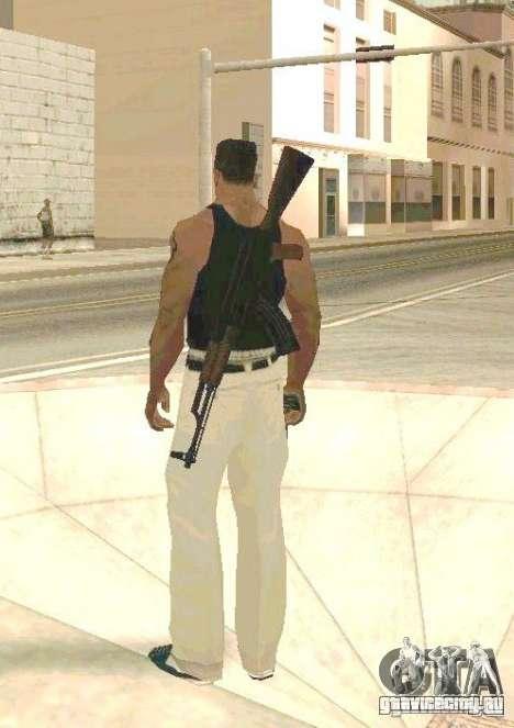 Оружие на теле для GTA San Andreas
