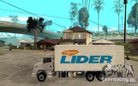 Camiуn Hiper Lider для GTA San Andreas вид слева