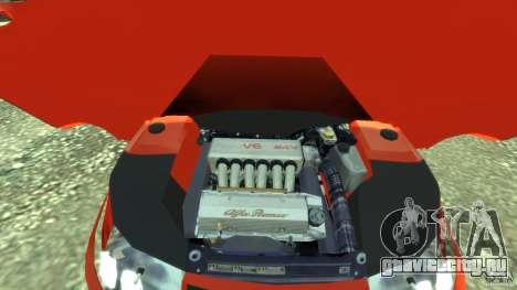 Alfa Romeo GTV Spider для GTA 4 вид сзади