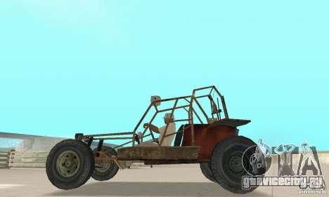 Half-Life Buggy для GTA San Andreas вид сзади слева