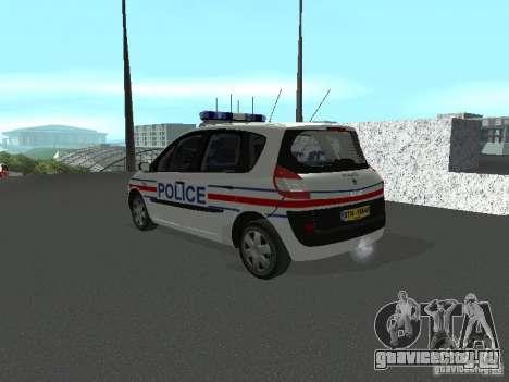 Renault Scenic II Police для GTA San Andreas вид слева