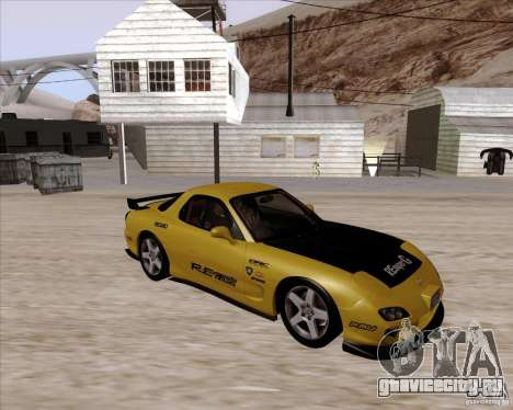 Mazda RX7 2002 FD3S SPIRIT-R (Type RS) для GTA San Andreas вид изнутри