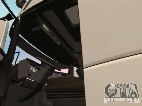 Scania R700 Euro 6 для GTA San Andreas вид изнутри
