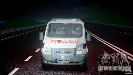 Ford Transit Polish Ambulance [ELS] для GTA 4 вид сверху