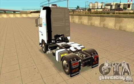 Volvo FH16 Globetrotter GAZEAU для GTA San Andreas вид сзади слева