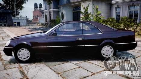 Mercedes-Benz 600SEC C140 1992 v1.0 для GTA 4 вид слева