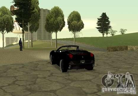 Ferrari California 2011 для GTA San Andreas вид слева