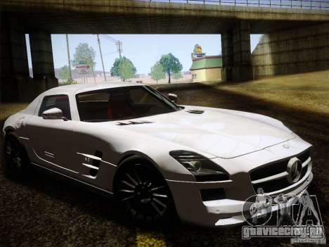 Mercedes-Benz SLS AMG для GTA San Andreas вид сзади