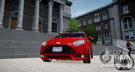 Ford Focus ST 2012 для GTA 4 вид сзади