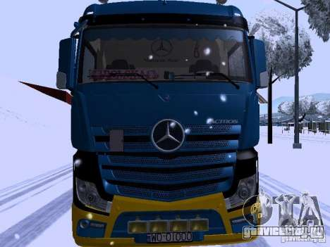 Mercedes Benz Actros MP4 для GTA San Andreas вид слева