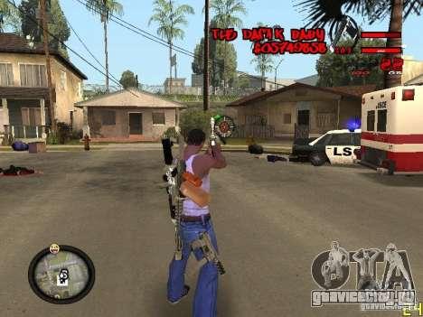 Hud by Dam1k для GTA San Andreas третий скриншот