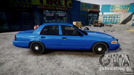 Ford Crown Victoria Detective v4.7 [ELS] для GTA 4 вид сзади