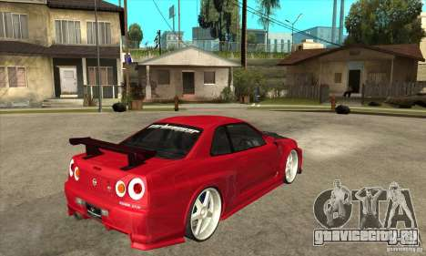 Nissan Skyline GTR-34 Carbon Tune для GTA San Andreas вид справа