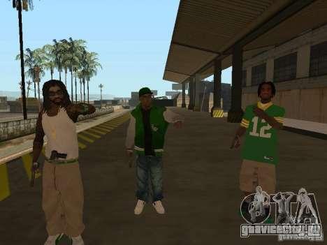 Новые скины Grove для GTA San Andreas третий скриншот