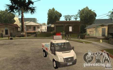 Ford Transit Pickup 2008 для GTA San Andreas вид сзади
