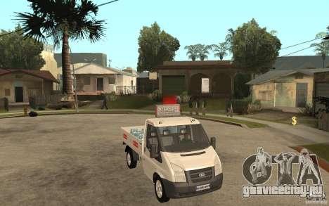 Ford Transit Pickup 2008 для GTA San Andreas вид сзади