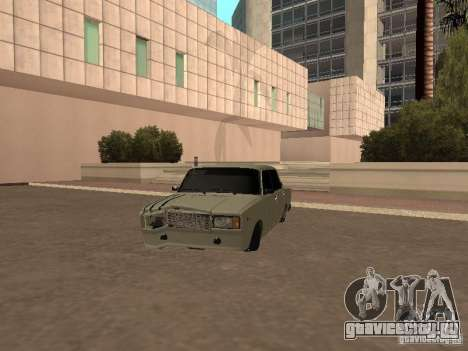 ВАЗ 2107 разбитая для GTA San Andreas вид слева