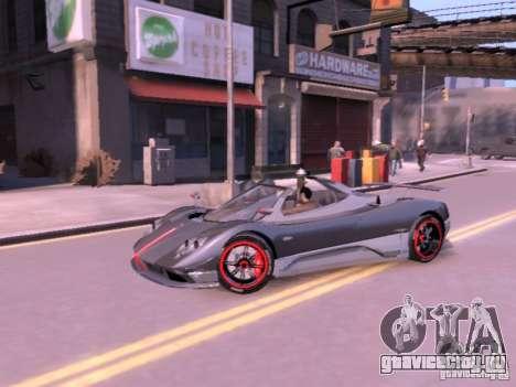 Pagani Zonda Cinque Roadster v 2.0 для GTA 4 вид справа