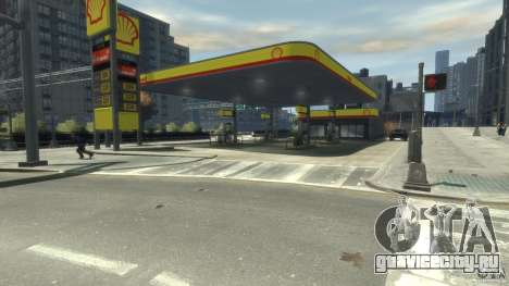 Shell Petrol Station для GTA 4