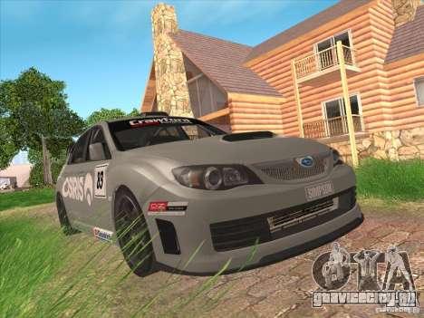 Subaru Impreza WRX STI N14 Gymkhana для GTA San Andreas вид сверху