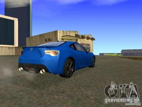Toyota GT86 Limited для GTA San Andreas вид справа