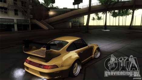 Porsche 993 RWB для GTA San Andreas вид изнутри