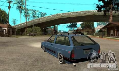 VW Fox 1989 v.2.0 для GTA San Andreas вид сзади слева