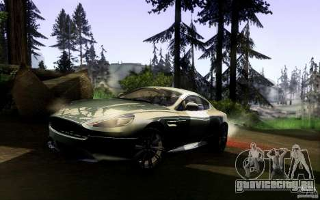 Aston Martin Virage V1.0 для GTA San Andreas вид сзади слева