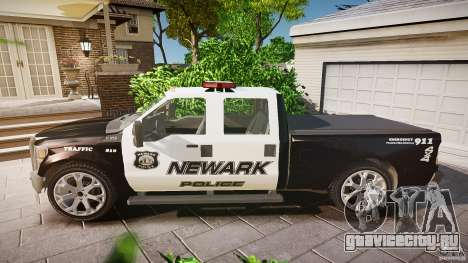 Ford F350 Marked [ELS] для GTA 4 вид слева
