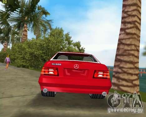 Mercedes-Benz SL600 1999 для GTA Vice City вид справа