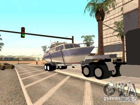 Boat Trailer для GTA San Andreas вид справа